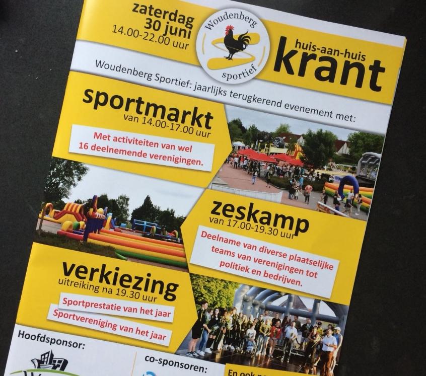 De Woudenberg Sportief Huis-aan-Huis krant